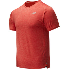 New Balance Impact Run Top Manga Corta Hombre, toro red